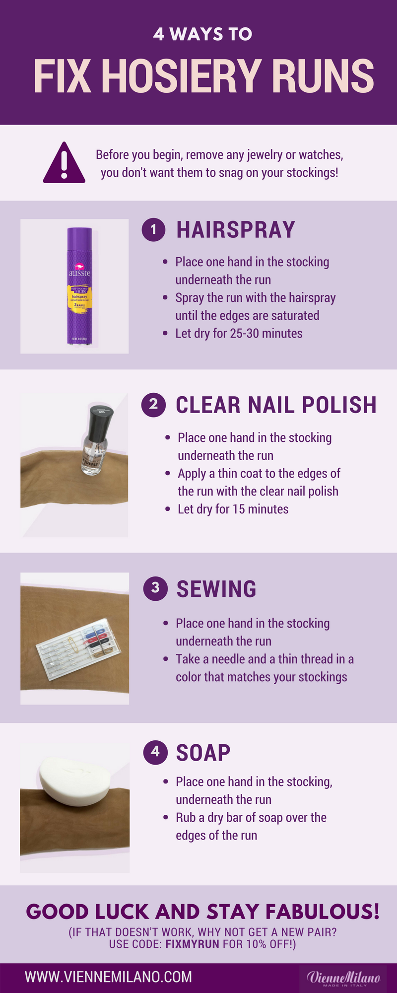 How to Fix Hosiery Runs
