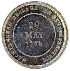 Mecklenburg Declaration of Independence Medal reverse