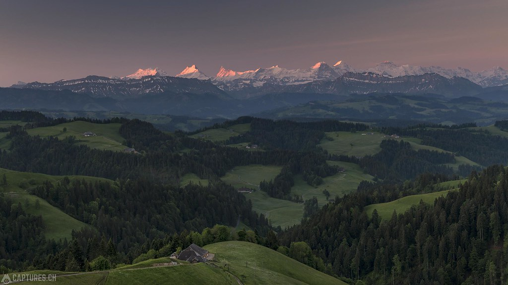 First light in the mountains - Emmental