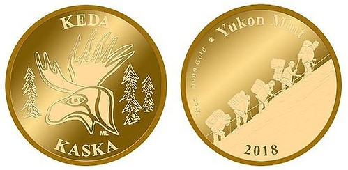 Yukon Mint Kaska gold coin