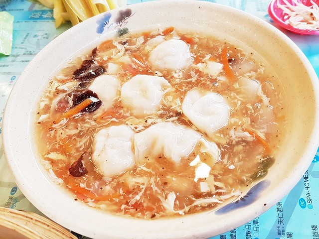 Hot And Sour Soup With Pork & Spring Onion Dumplings