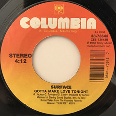 SURFACE:NEVER GONNA LET YOU DOWN(LABEL SIDE-B)