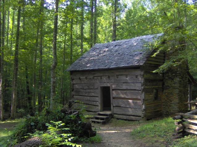 The John Ownby Cabin in The Sugarlands valley was built in 1860. Photo taken on August 22, 2006.