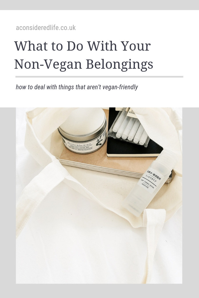 What To Do With Non-Vegan Items