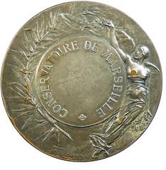 HArp medal by Adolphe Rivet reverse