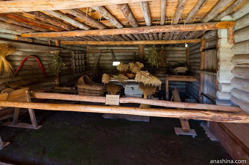 Хозяйственный двор в доме крестьянина-середняка Волкова