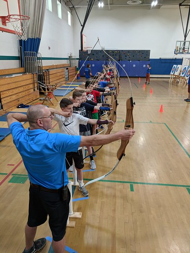 Jim at Archery in PE Class