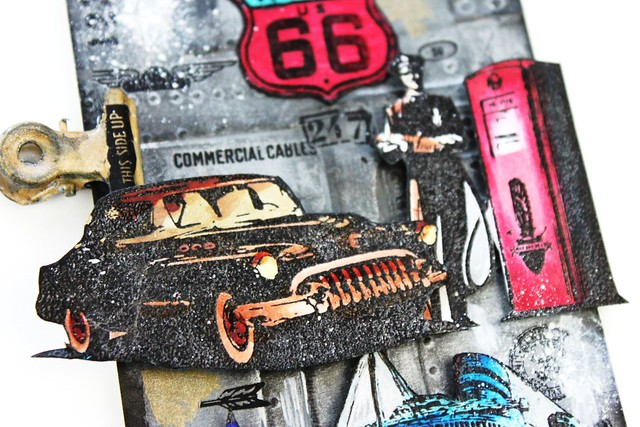 Meihsia Liu Simply Paper Crafts Mixed Media Tag Transport Travel Vacation Simon Says Stamp Tim Holtz 3