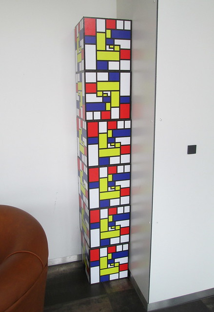 Stack of Mondrian Cubes