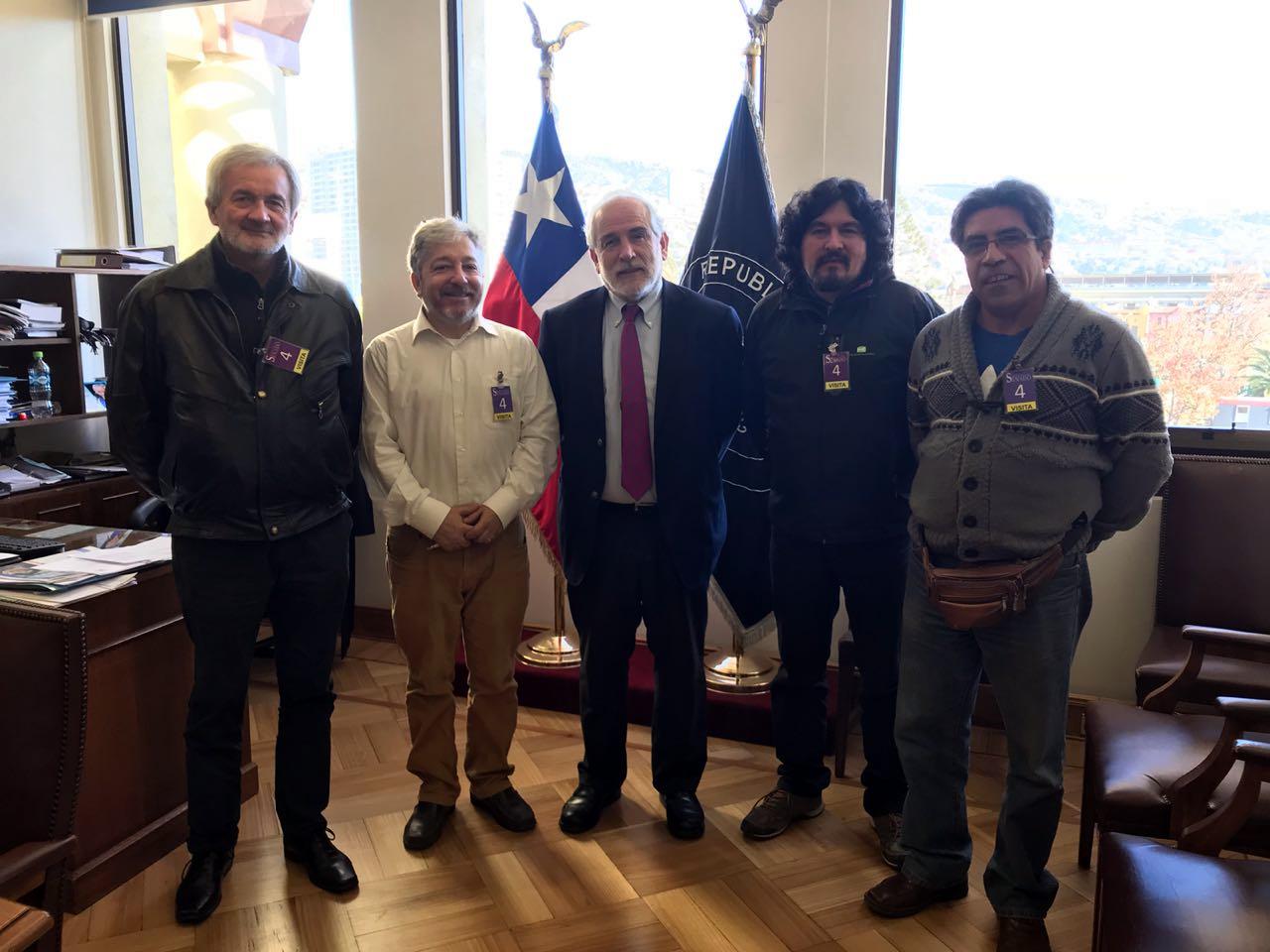 AFSAG en el Congreso Nacional con parlamentarios a por Proyecto de Planta y de Mejoramiento CDT a la Contrata – 13 Junio 2018