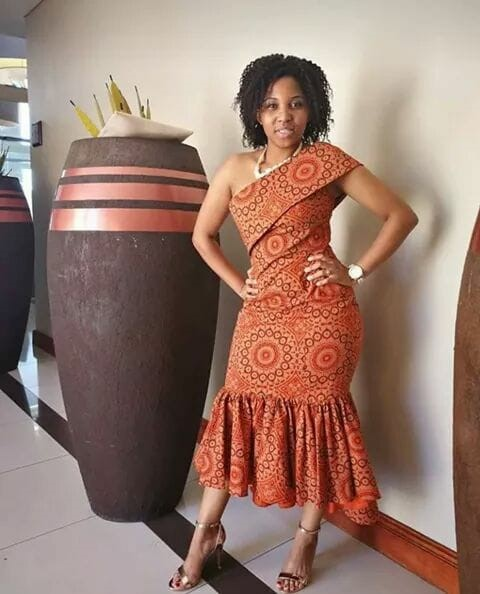 Stylish South African Shweshwe Dresses 2018