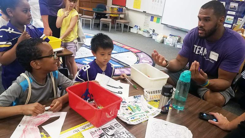 Vikings Visit Rahn Elementary