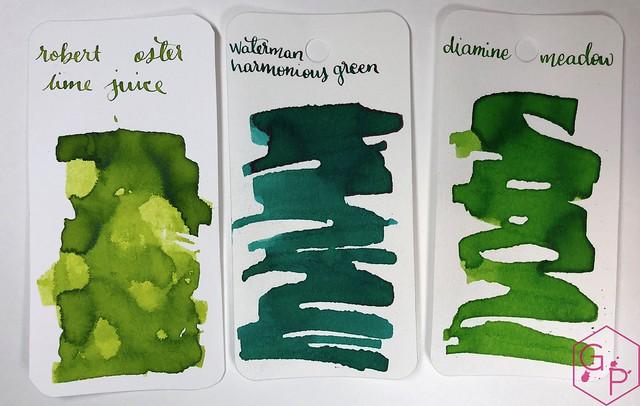 @RobertOsterInk Lime Juice Ink Review @MilligramStore 9