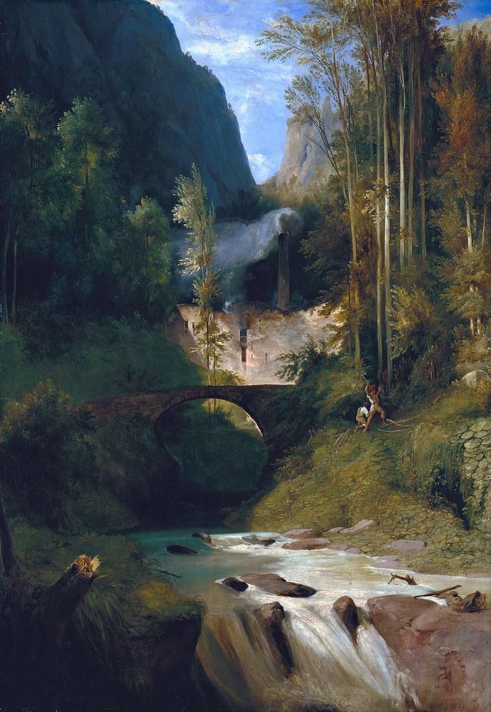 Carl Blechen - Schlucht bei Amalfi (1831)