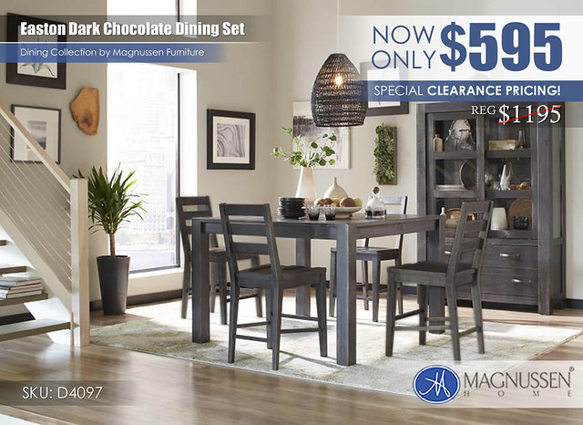 Magnussen Easton Chocolate Dining D4097_CLEARANCE