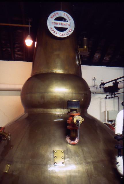 Brora Distillery on Closing Day, 1983 (Original Clynelish Distillery). Wash Still. (T)