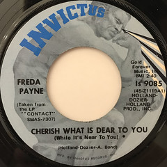 FREDA PAYNE:CHERISH WHAT IS DEAR TO YOU(WHILE IT'S NOT TO YOU)(LABEL SIDE-A)