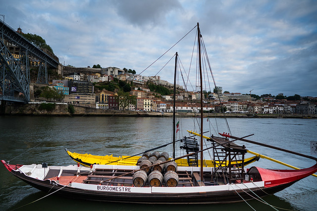 Boat on the Duoro River in Porto