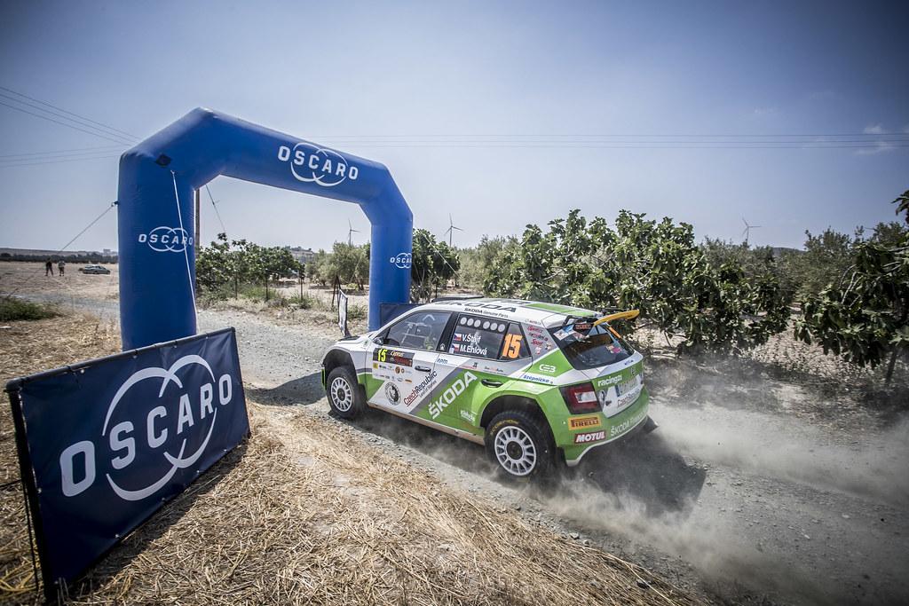 15 STAJF Vojtech (CZE), EHLOVA Marcela (CZE), ACCR CZECH RALLY TEAM, SKODA FABIA R5, action15 STAJF Vojtech (CZE), EHLOVA Marcela (CZE), ACCR CZECH RALLY TEAM, SKODA FABIA R5, action during the 2018 European Rally Championship ERC Cyprus Rally,  from june 15 to 17  at Larnaca, Cyprus - Photo Gregory Lenormand / DPPI