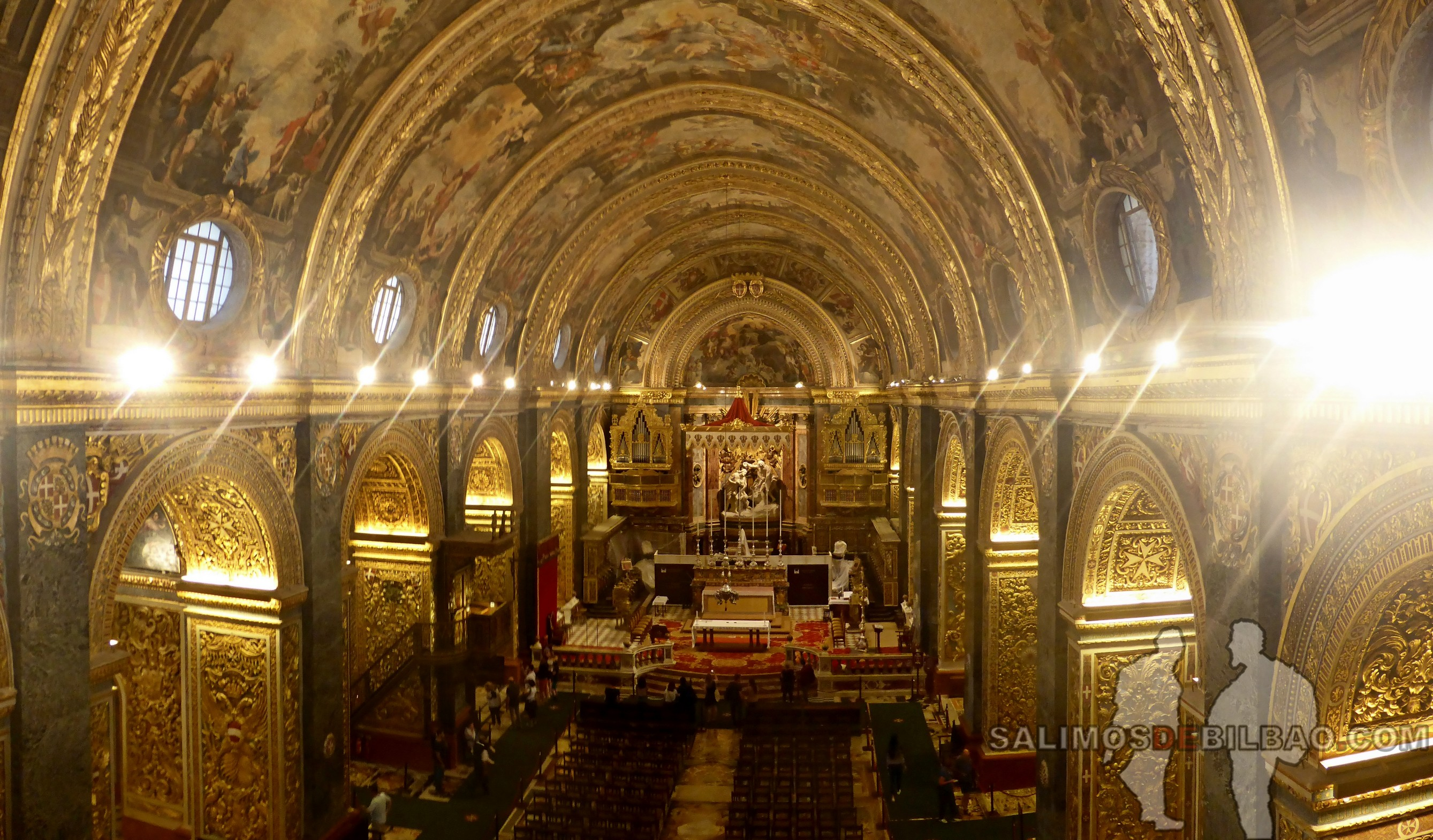 0637. Pano, Interior de la ConCatedral, La Valeta, Malta