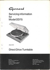 Garrard TechEng Service Manual DD75