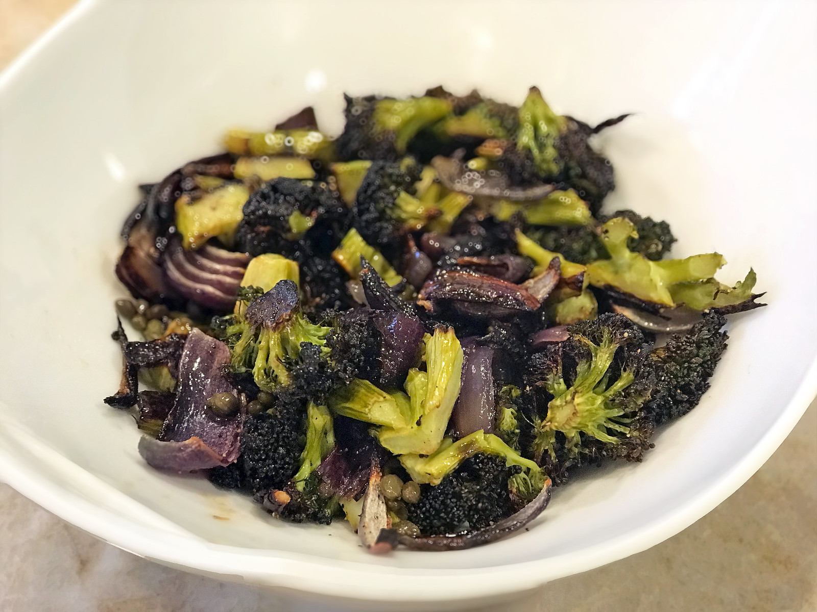 Roasted broccoli with brown butter
