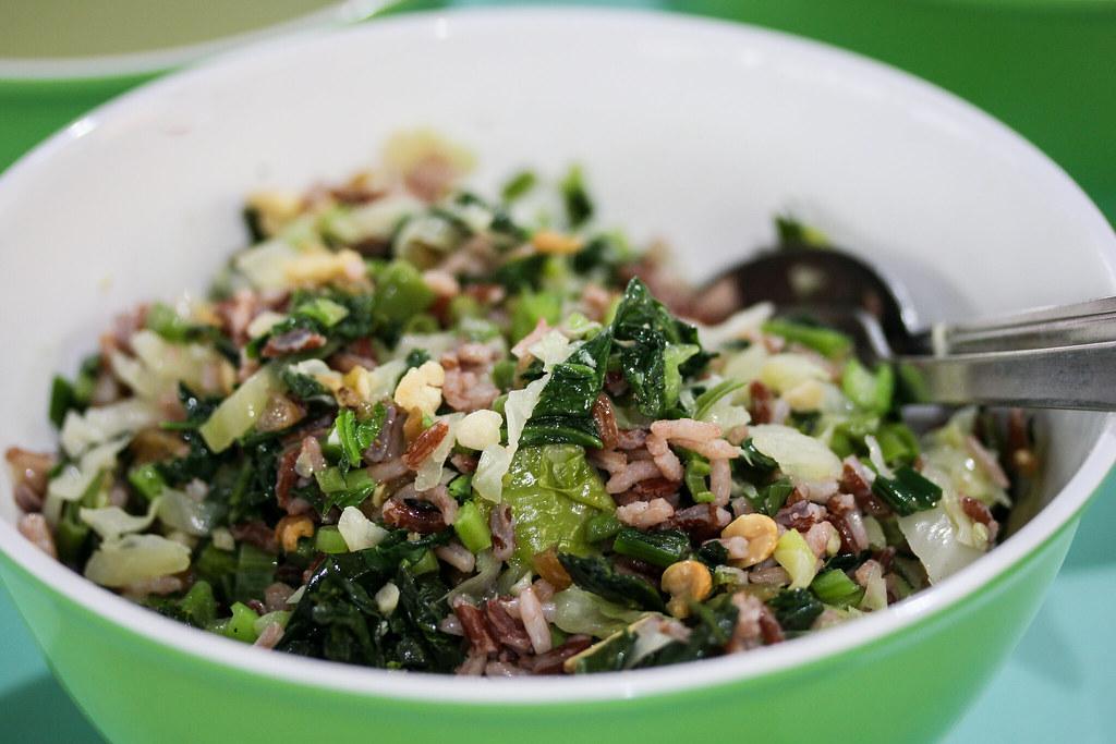 Traditional Hakka Lui ChaBrown Rice Mixed