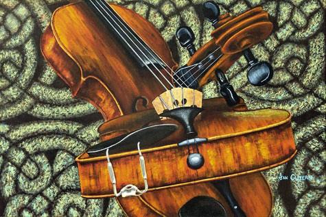 Celtic Fiddle Study No.2. Artist Jan Clizer