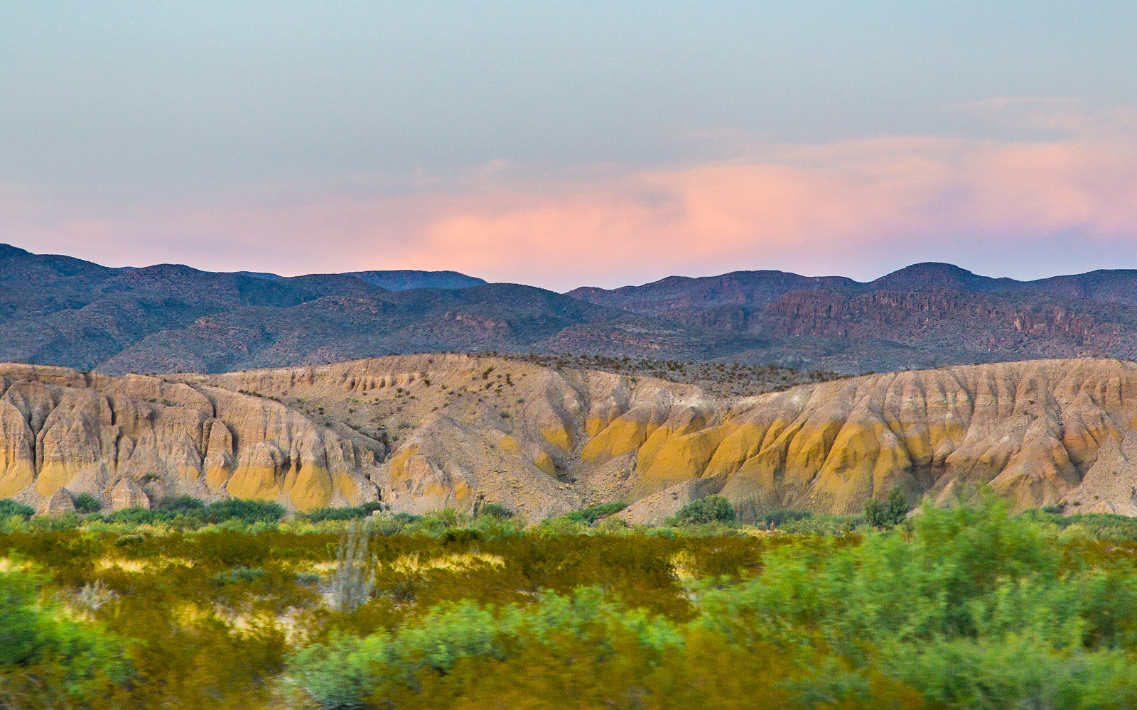Big Bend Formations at Sunset