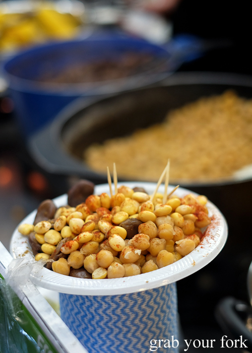Cooked beans at Lakemba Ramadan Food Festival 2018 on Haldon Street