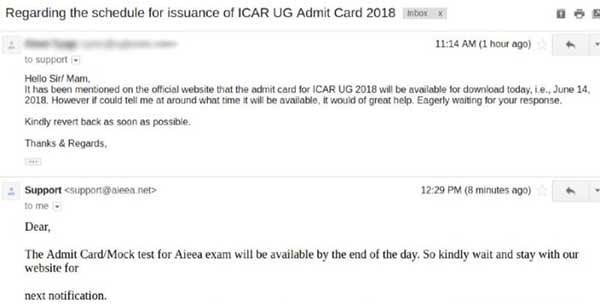 ICAR 2018 Admit Card to be released today