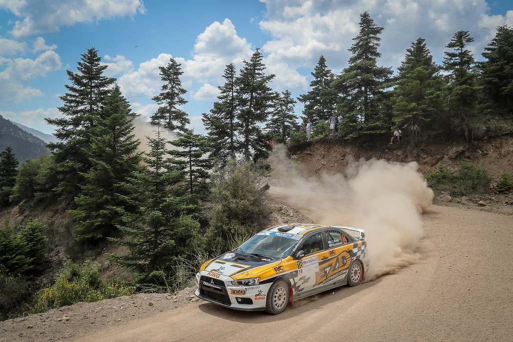 18 ALONSO Juan Carlos (arg), MONASTEROLO Juan (arg), Mitsubishi Lancer EVO X, action during the European Rally Championship 2018 - Acropolis Rally Of Grece, June 1 to 3 at Lamia - Photo Alexandre Guillaumot / DPPI