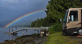 Rainbow over RV