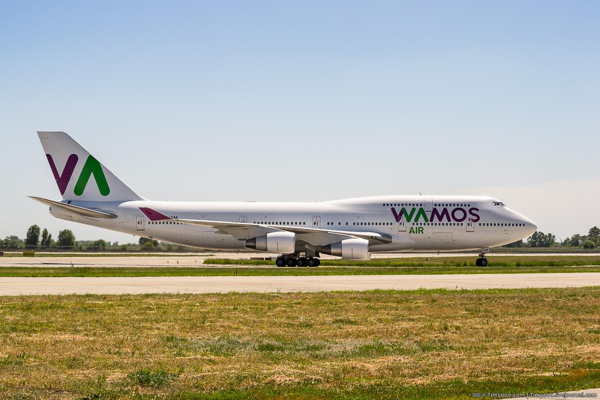 Boeing 747-400 EC-KSM Wamos Air