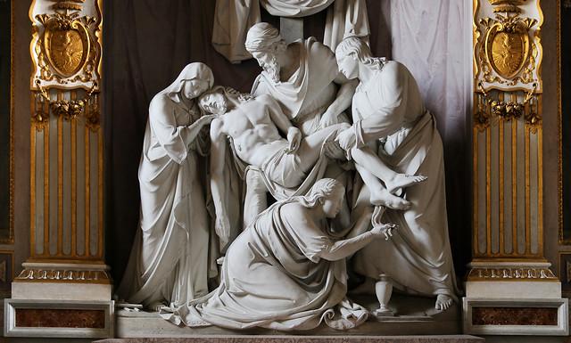 The Deposition of the cross sculpture in Santissima Trinità dei Monti