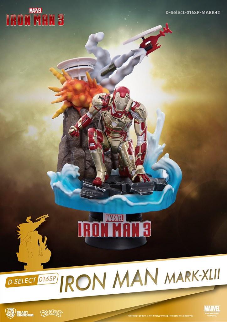 野獸國 夢-精選 系列《鋼鐵人3》鋼鐵人 馬克42 D-Select-016SP Iron Man Mark42 全身場景雕像作品