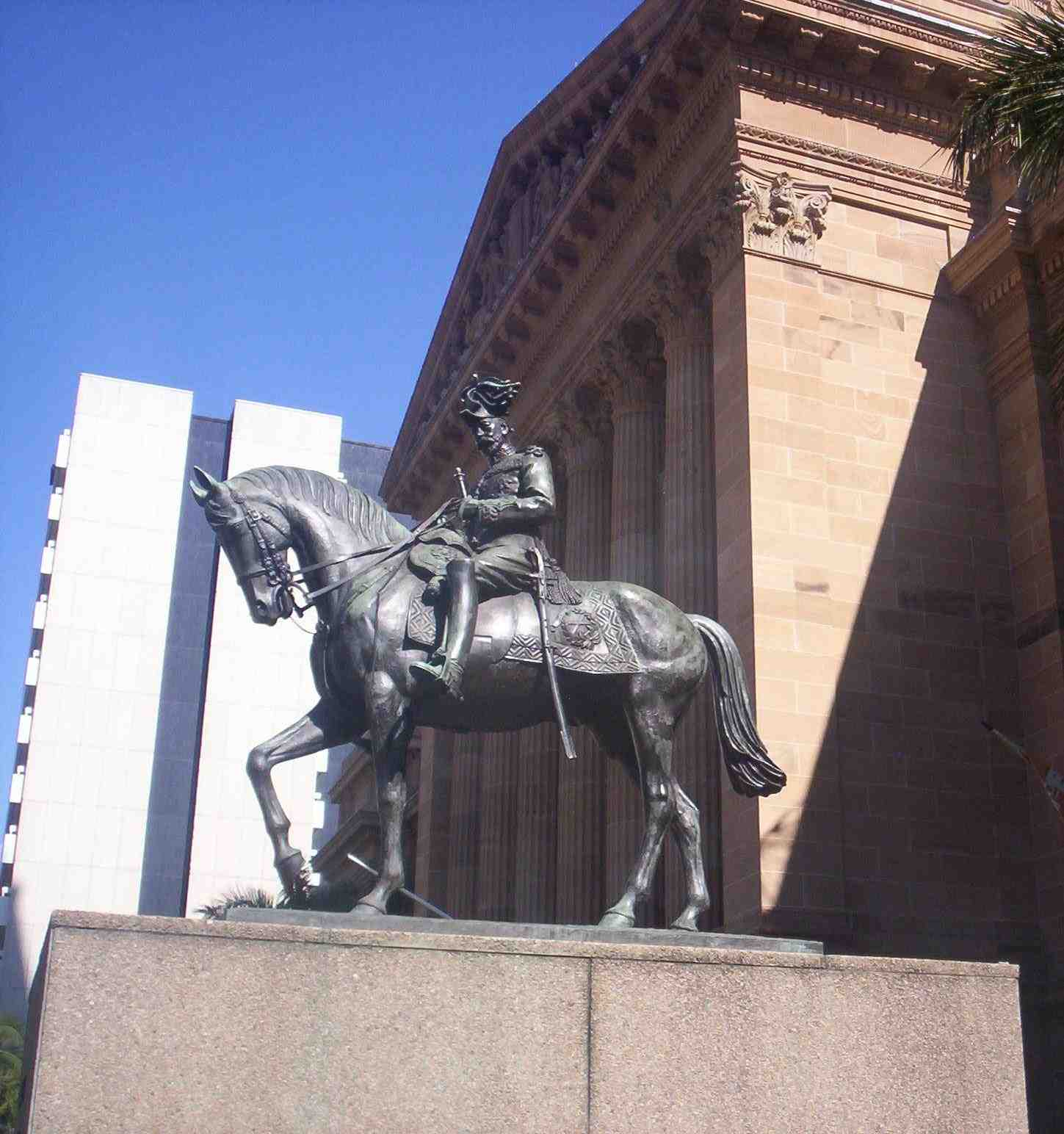 Statue of King George V in King George Square outside Brisbane City Hall. Photo taken on August 9, 2007.