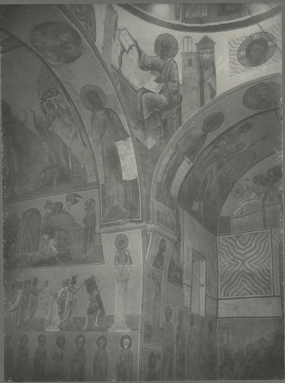 Фрески юго-западного  паруса Спасо-Преображенского собора Мирожского монастыря