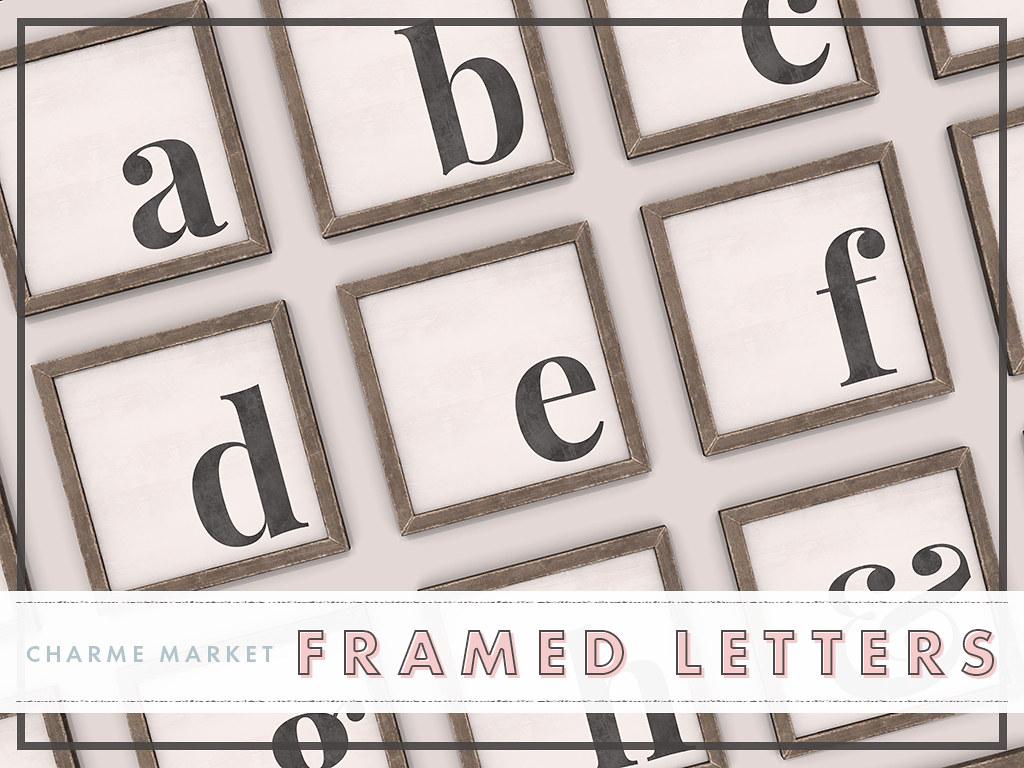 framed letters - TeleportHub.com Live!