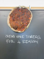 My Cooking Teacher Pinned this Poor Pizza to the Blackboard