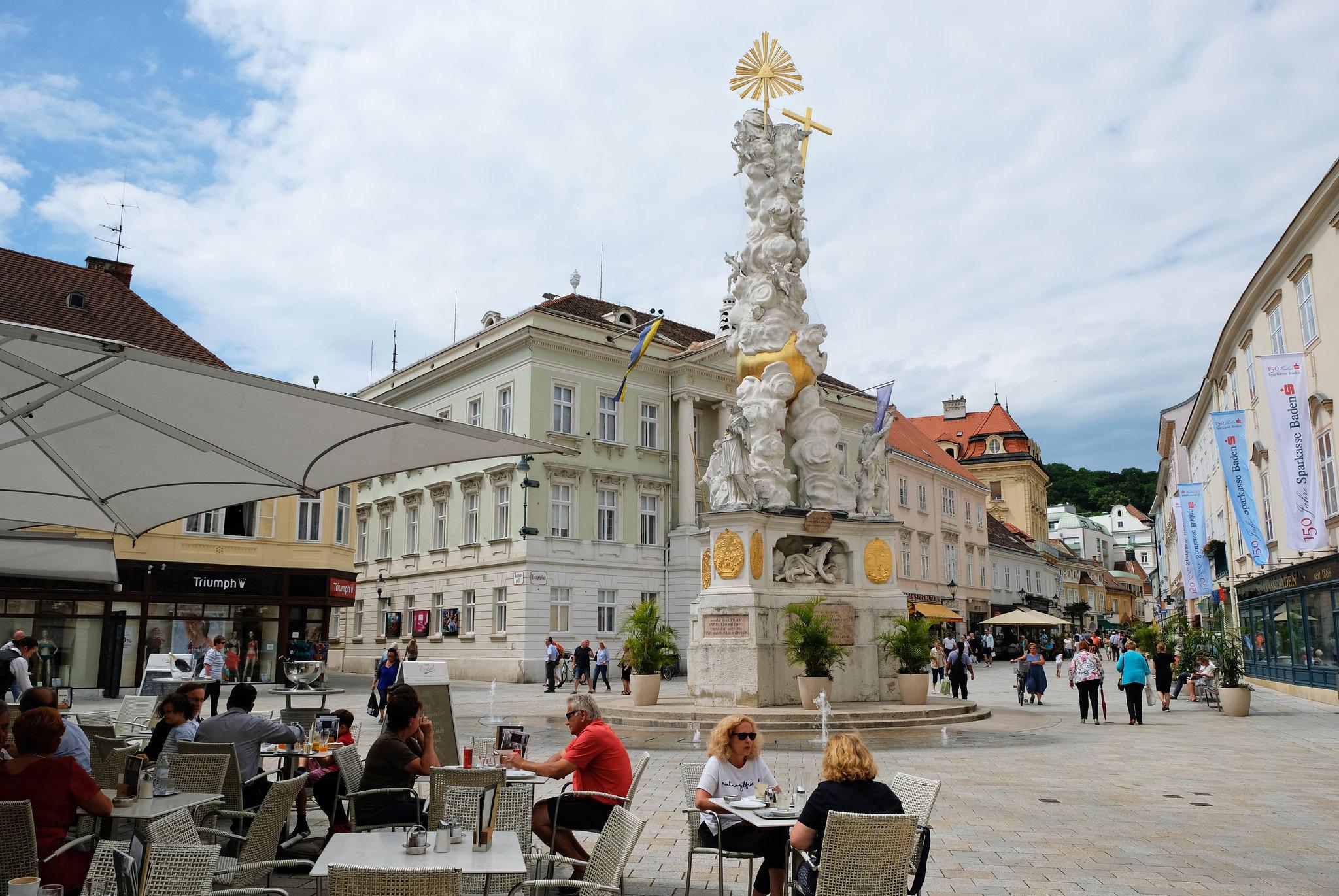 Hauptplatz, Baden bei Wien, Austria