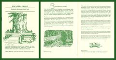 ephemera - Humboldt Redwoods State Park brochure