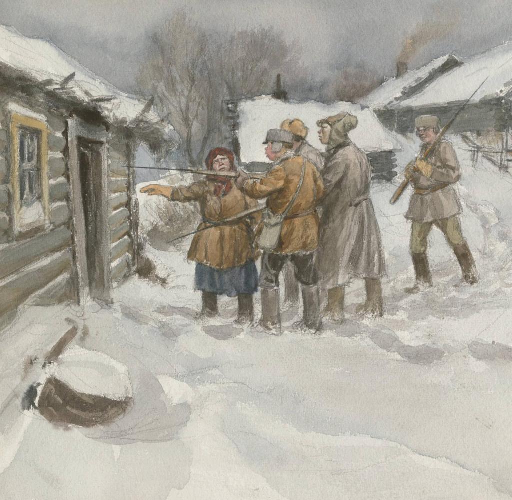 俄国内战与革命的写实绘画25