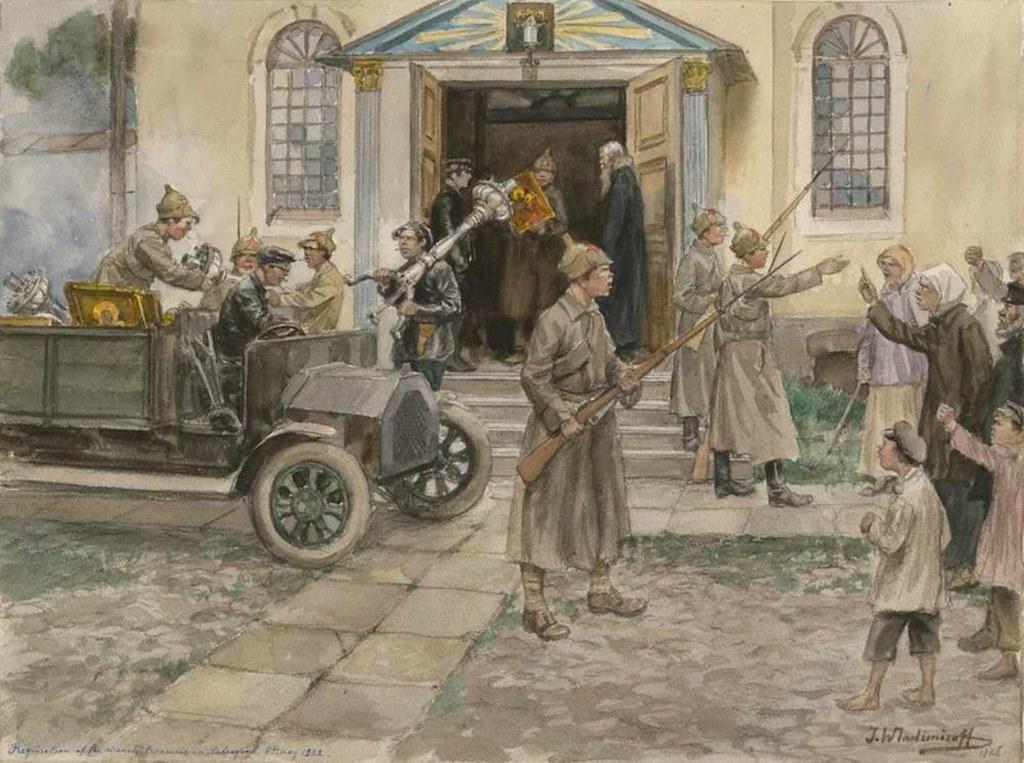 俄国内战与革命的写实绘画24
