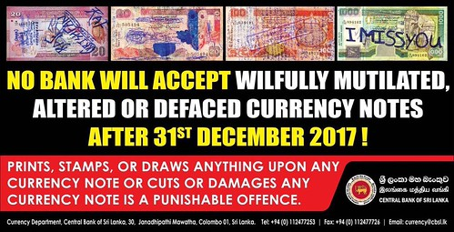 Sri Lanka policy on mutilated banknotes