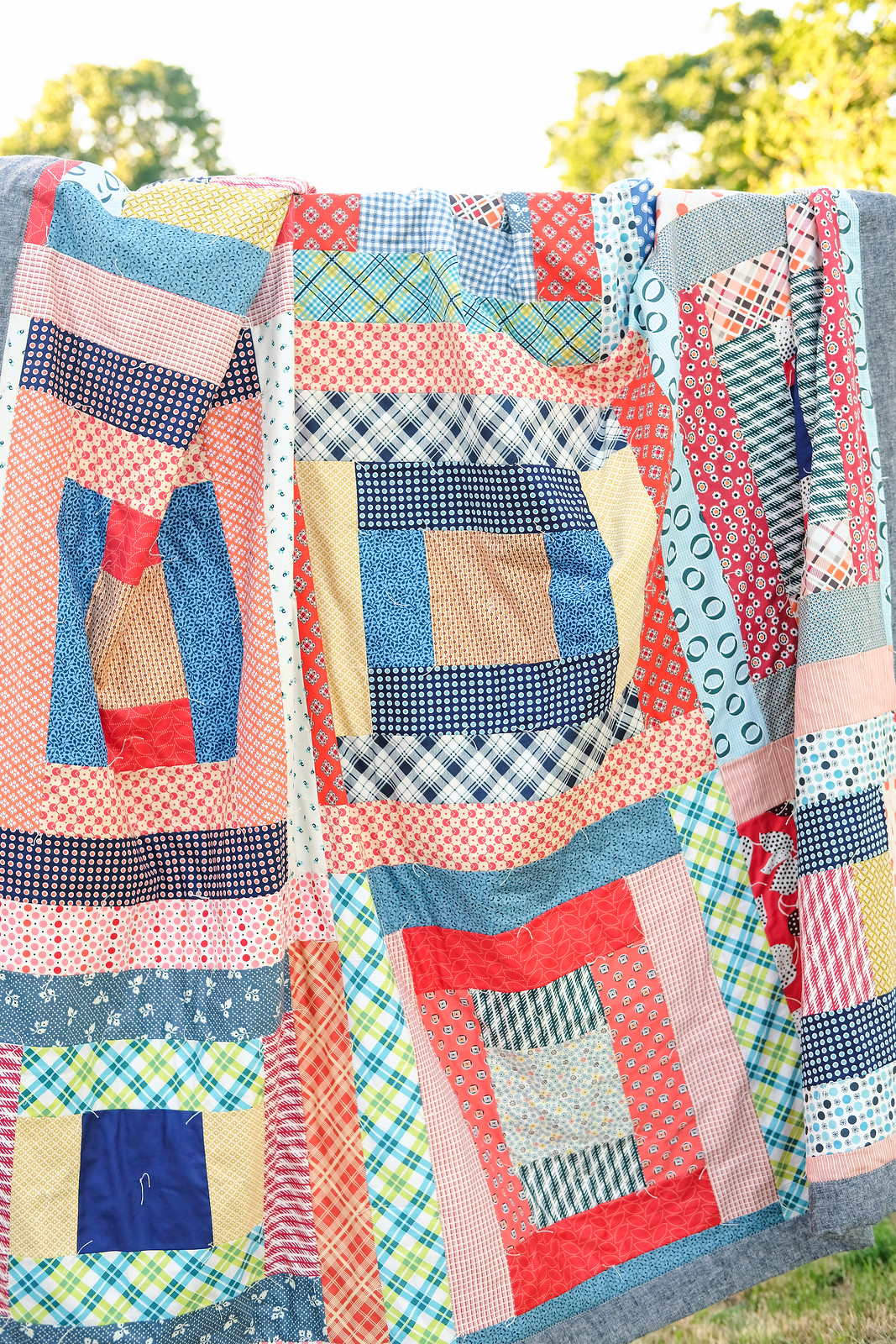 May Giant Block Picnic Quilt