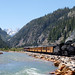 capwell posted a photo:	Northbound, approaching Silverton, along the Animas River
