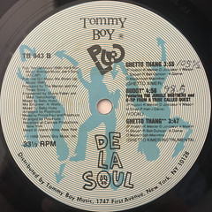DE LA SOUL:BUDDY & GHETTO THANG(LABEL SIDE-B)