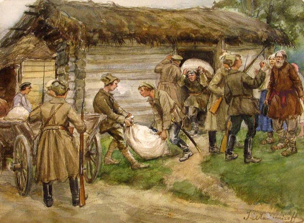 俄国内战与革命的写实绘画08