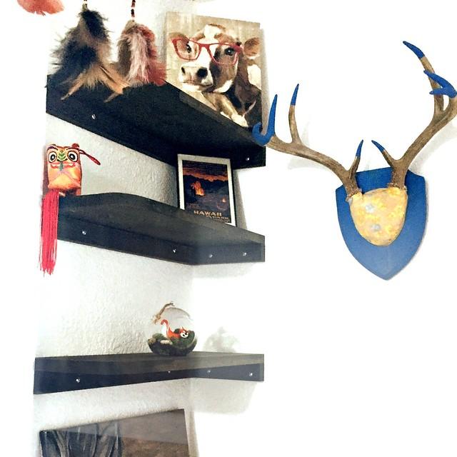 Hallway Corner Shelves
